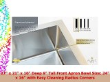 Nantucket <b>Sinks</b> ZR3322 33-Inch Pro Series Single Bowl Self ...