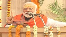 PM Modi says such a thing in Varanasi, people could not stop their laugh | Oneindia News