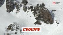 Le run engagé de Victor de Le Rue en Andorre - Adrénaline - Snowboard freeride
