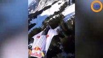 Ils survolent les montagnes à pleine vitesse en wingsuit !
