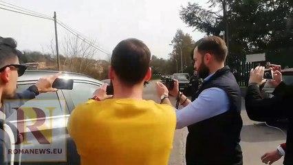 Claudio Ranieri arriva a Trigoria (8/03/2019)