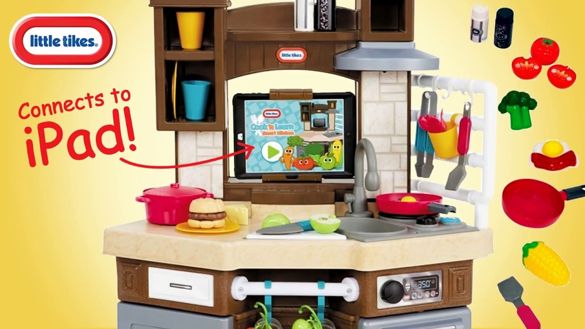 Little Tikes Cook n Learn Smart Kitchen iPad App Recipes   Unboxing Demo  Review