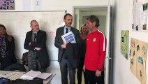 Visite du préfet de la Meuse Alexandre Rochatte à l'école de la 2e chance à Bar-le-Duc