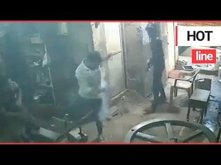 Moment worker's phone explodes in his pocket leaving him with burns | SWNS TV