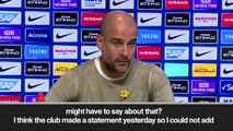 (Subtitled) 'I trust the club' Guardiola defends City in face of UEFA Fair Play investigation