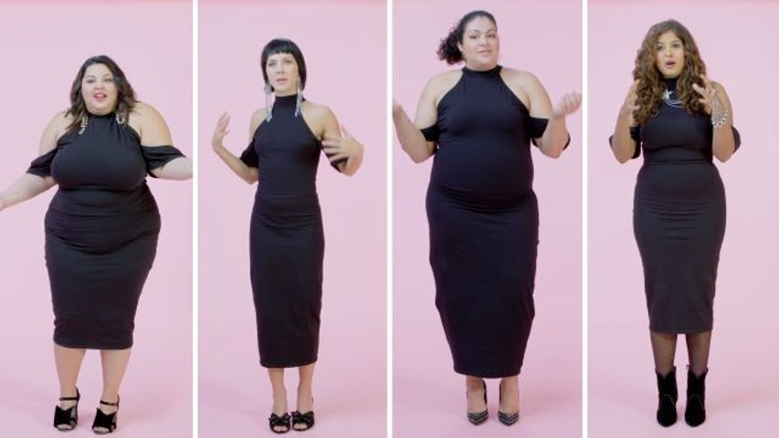 Women Sizes 0 Through 28 Try on the Same Little Black Dress