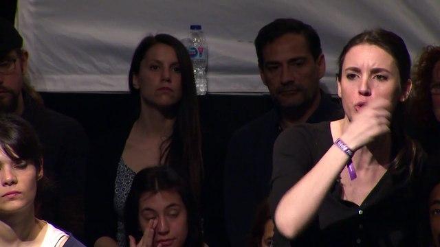 """Primer acto de Montero tras el cartel machista del macho alfa: """"Sólo Podemos puede frenar al trío de Colón"""""""