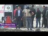 صدى البلد | «جمال مبارك» متأثرا أثناء نقل والده من مستشفى «المعادي العسكري»