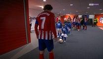 La liga - Atlético Madrid : Quand Griezmann s'échauffe avec un jeune