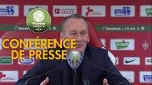 Conférence de presse Stade Brestois 29 - Valenciennes FC (2-5) : Jean-Marc FURLAN (BREST) - Réginald RAY (VAFC) - 2018/2019