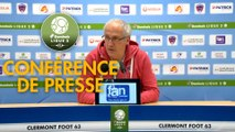 Conférence de presse Clermont Foot - Grenoble Foot 38 (1-1) : Pascal GASTIEN (CF63) - Philippe  HINSCHBERGER (GF38) - 2018/2019