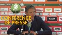 Conférence de presse RC Lens - AJ Auxerre (2-0) : Philippe  MONTANIER (RCL) - Pablo  CORREA (AJA) - 2018/2019