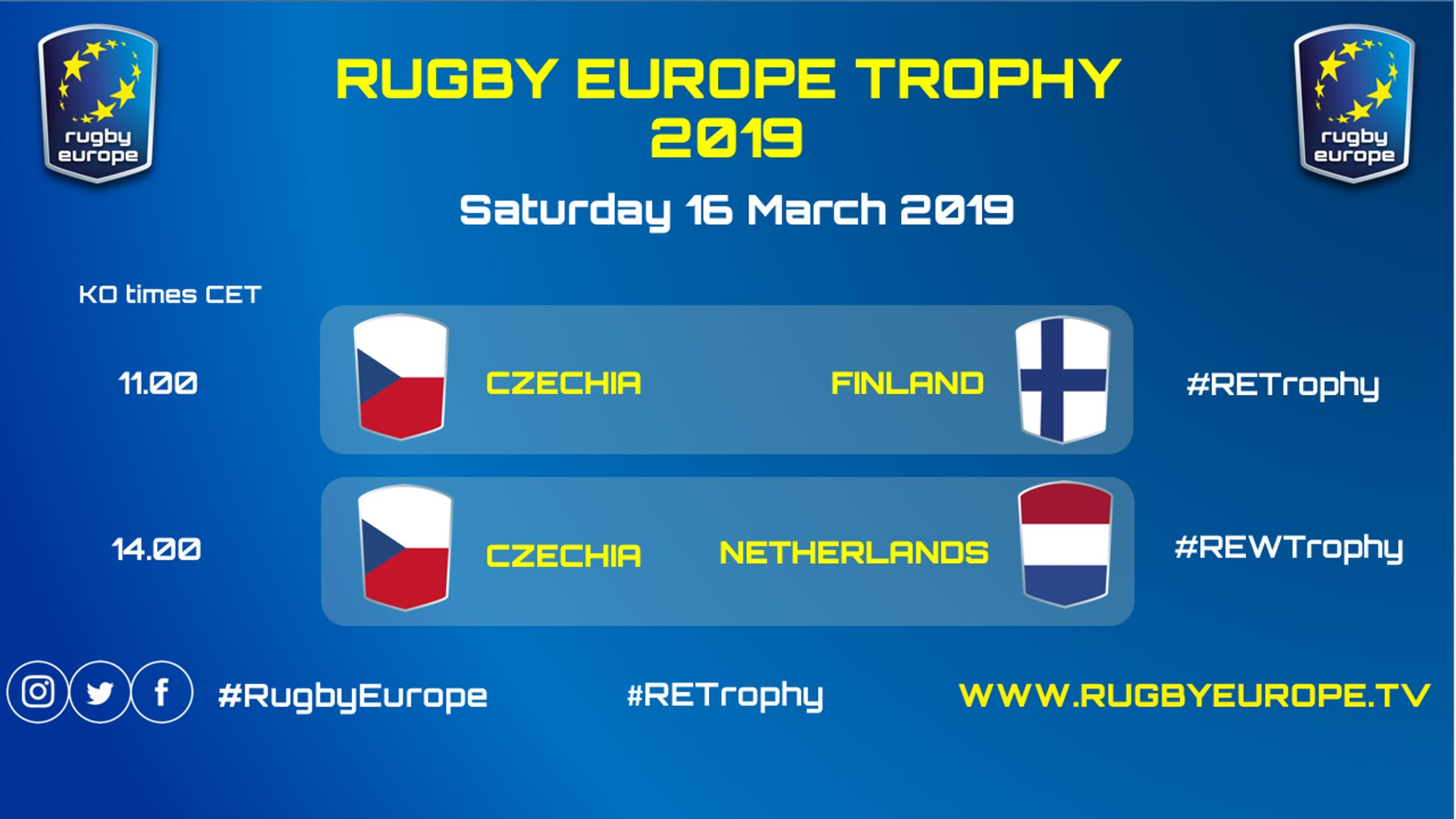 CZECHIA / FINLAND - WOMEN TROPHY 2019 & CZECHIA / NETHERLANDS - RUGBY EUROPE TROPHY 2018/2019