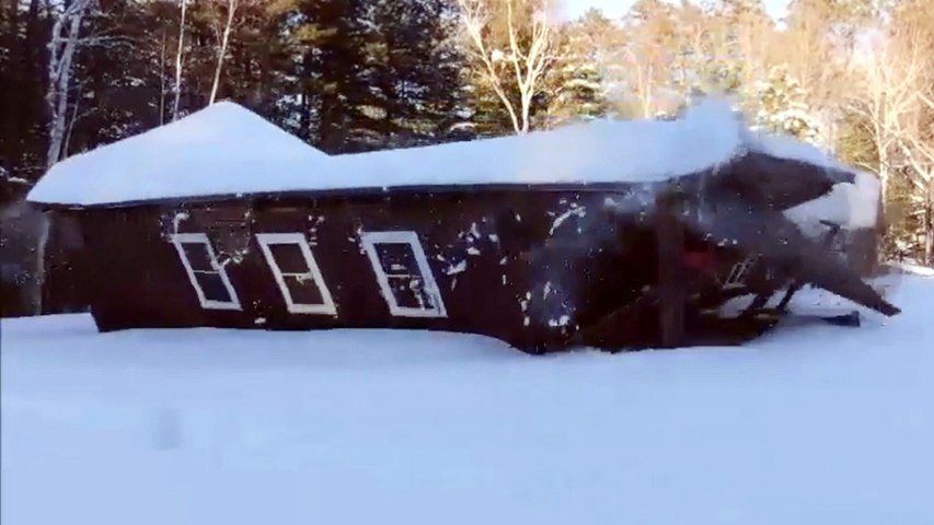 WATCH: Heavy Snow, Ice Causes Building To Collapse