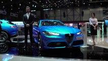 Alfa Romeo stands at the Geneva International Motor Show 2019