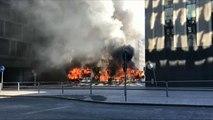 Oh Schreck: Bus in Stockholm explodiert