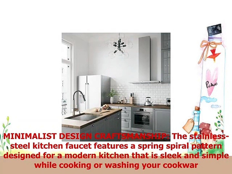VIGO VG02009STK2 Lincroft 18 12 Inch Modern Single Handle Brass Kitchen Sink Faucet Pull