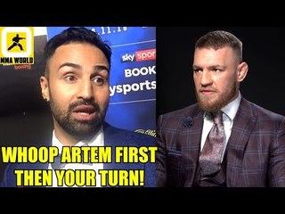Paulie Malignaggi will fight Conor McGregor's teammate Artem Lobov if he wins on April 6,JDS