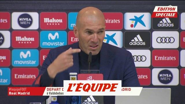Zidane à son départ «Je resterai toute ma vie près de ce club» - Foot - ESP - Real Madrid