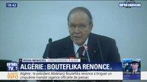 Algérie: le président Abdelaziz Bouteflika renonce à briguer un cinquième mandat