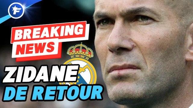 OFFICIEL : Zinedine Zidane de retour sur le banc du Real Madrid