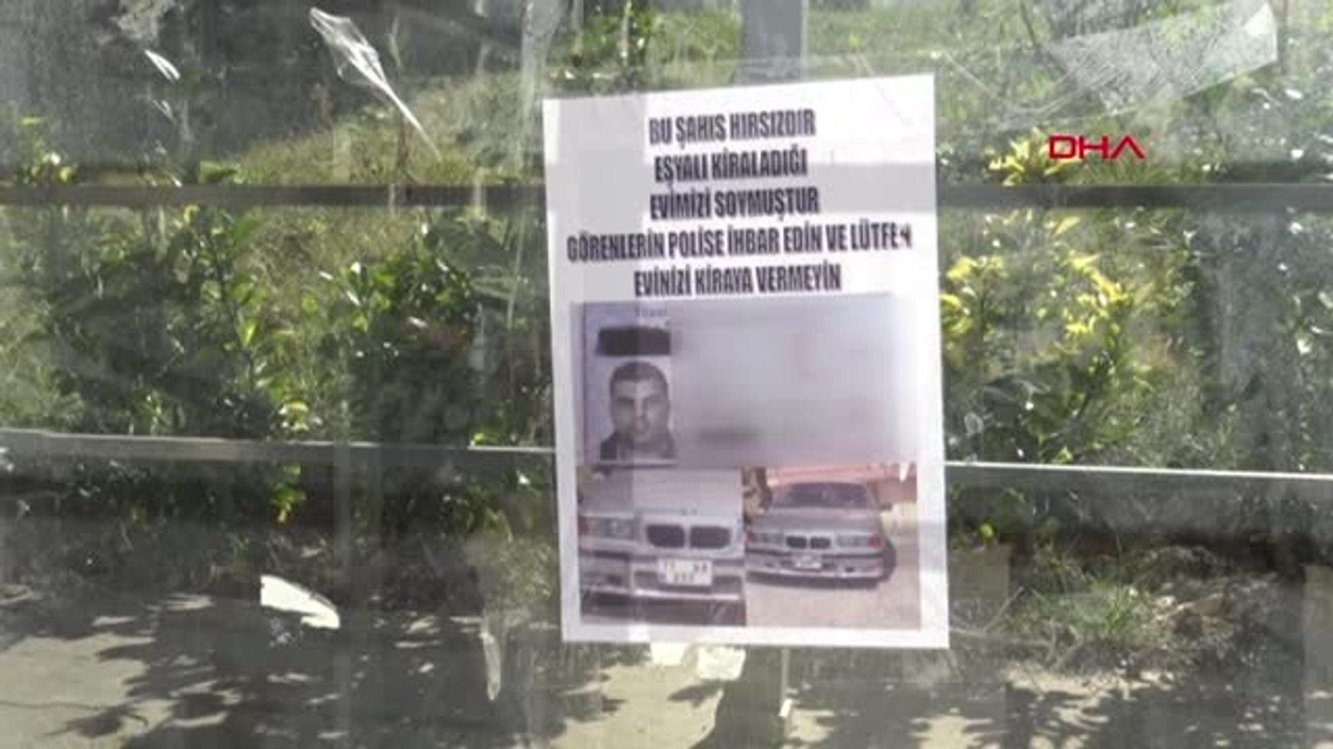 Bursa Eşyalı Evini Soyan Kiracısının Fotoğraflarını Afiş Yaparak İfşa Etti