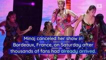 Angry Nicki Minaj Fans Chant 'Cardi B' After Canceled Concert