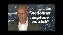 """Zidane """"heureux de rentrer à la maison"""" au Real Madrid"""