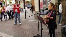 Adele - Send my love (to your new lover) - Cover by Allie Sherlock - Busking in Limerick