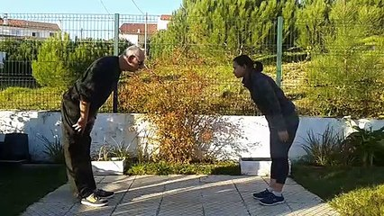 A small woman defending herself effectively! Aiki Jutsu Do Training
