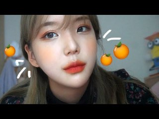 Orange Warm-Toned Makeup GRWM [JJeong U] 오렌지 웜톤메이크업 get ready with me-! [쩡유]