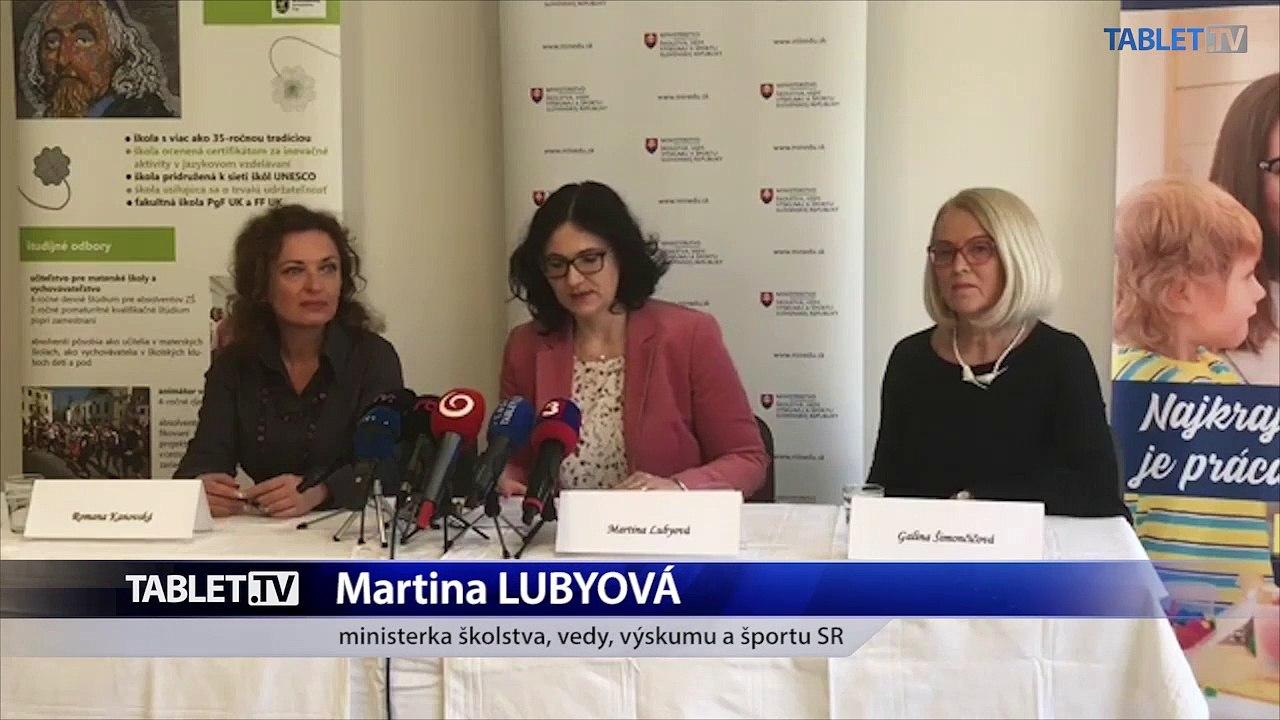 ZÁZNAM: Ministerka školstva M. Lubyová otvorila maturitné skúšky