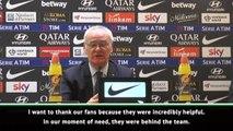 Ranieri thanks Roma fans after winning start