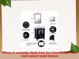 Eclife Modern 24 Bathroom Vanity Pedestal Cabinet Set Pedestal Stand Wood Black with