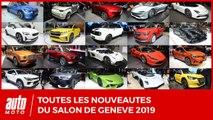 Toutes les nouveautés du salon de Genève 2019