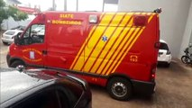 Trabalhador tem ferimentos ao cair de caminhão no Bairro Alto Alegre