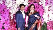 Sachin Tendulkar & Anjali Tendulkar At Akash Ambani & Shloka Ambani's Grand Reception Party