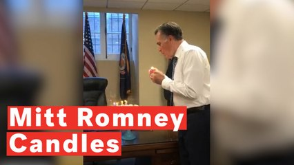 Watch Mitt Romney's Unusual Technique To Blow Out Birthday Candles
