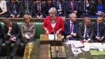 """Brexit: Theresa May """"continue de croire que la meilleure issue est que le Royaume-Uni sorte de l'Union européenne"""""""