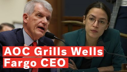 Watch: Ocasio-Cortez Grills Wells Fargo CEO On Company's Association With ICE Partnerships
