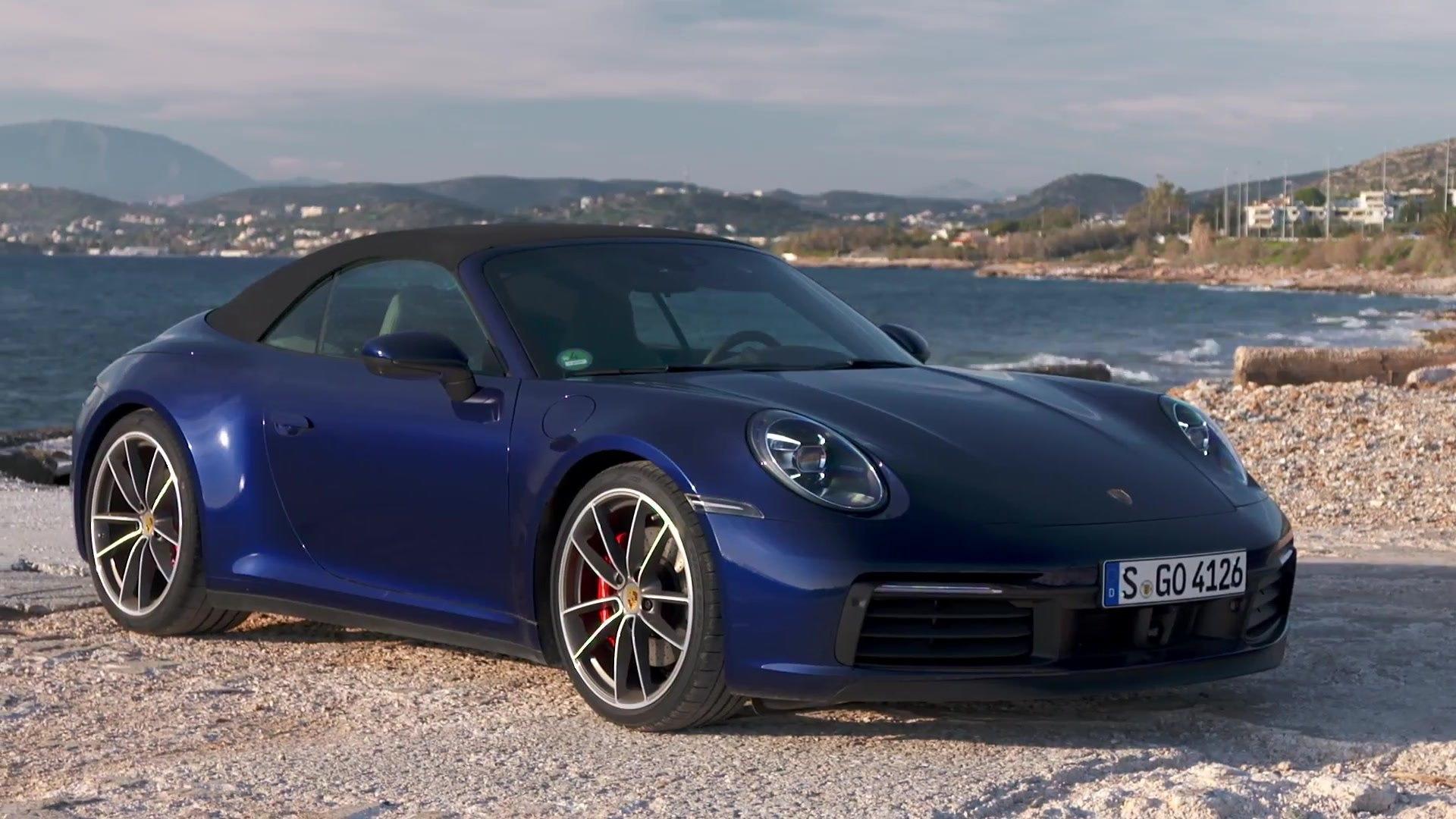 Porsche 911 Carrera 4s Cabriolet Design In Gentian Blue Metallic Video Dailymotion
