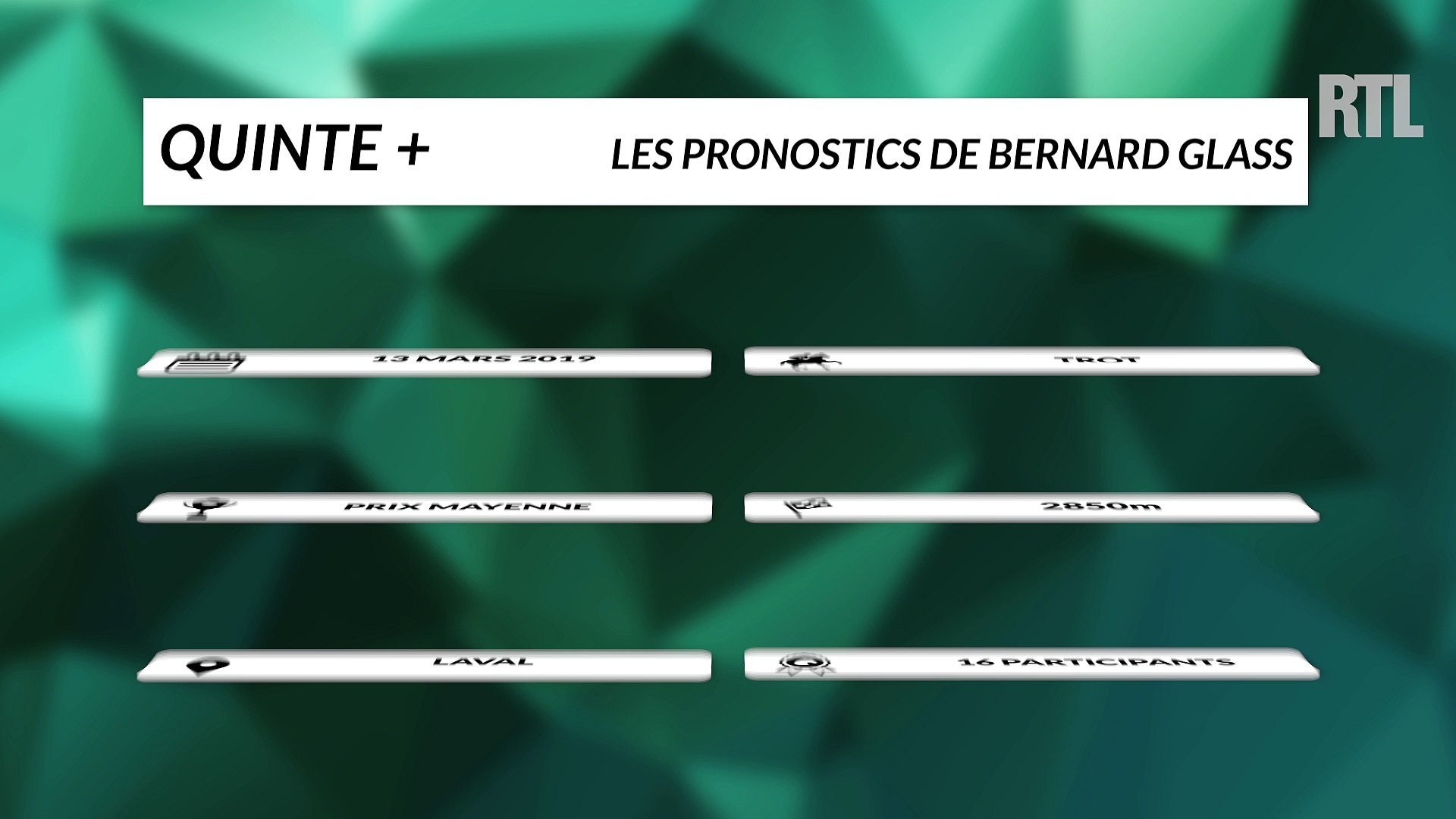Pronostic quinté bernard glass