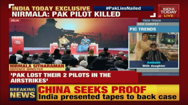 Nirmala Sitharaman says India knows identity of Pakistan's F-16 pilot who died.mp4