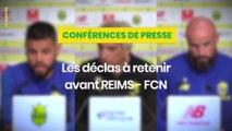 Stade de Reims - FC Nantes : les déclas d'avant-match