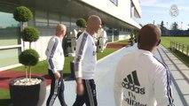 Zinedine Zidane settles back into Real Madrid training headquarters