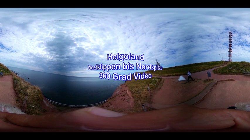 Helgoland Westklippen 360 Grad Video