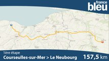Tour de Normandie 2019  : le parcours de la 1re étape