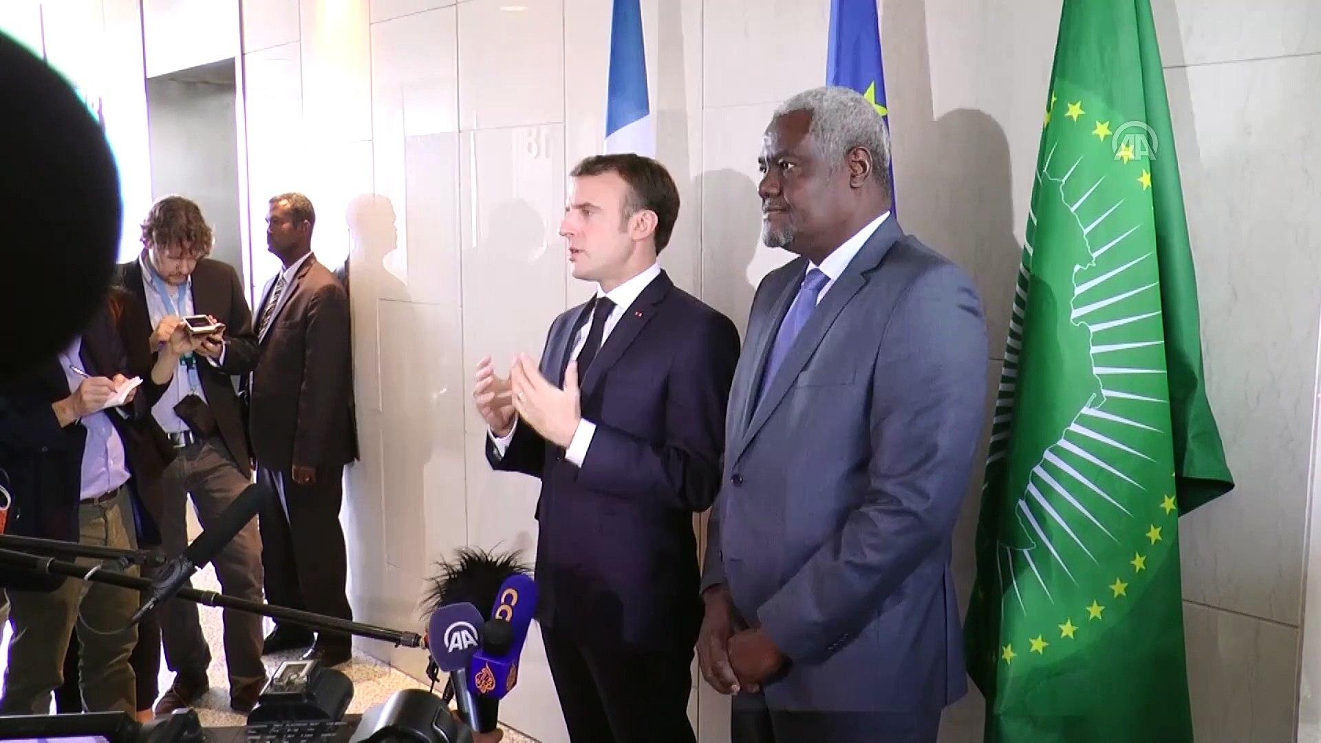 Macron'dan Afrika'ya terörle mücadelede iş birliği çağrısı - ADDİS ABABA