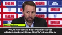 (Subtitled) Southgate explains Declan Rice selection for England