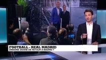 Football: Zinédine Zidane de retour à Madrid